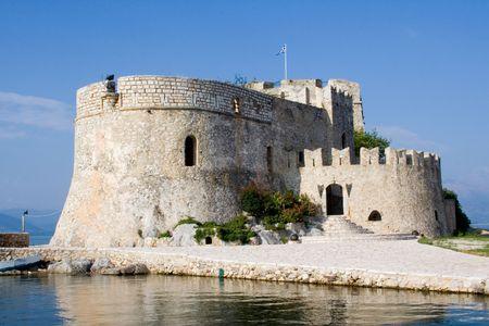 bourtzi: ancient venetian castle bourtzi in nafplio greece Stock Photo