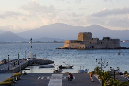 bourtzi: bourtzi fortress in nafplio greece