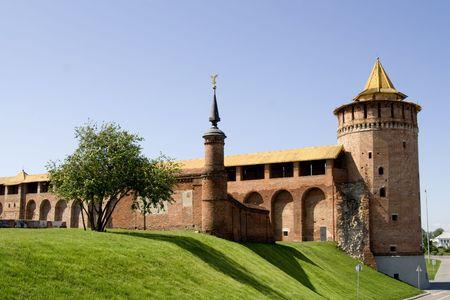 riuns of medieval kremlin in kolomna city russia photo