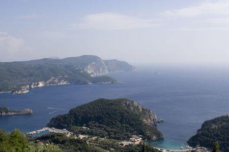 Paleokastritsa on Corfu island, Greece photo