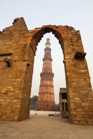 quitab: Qutub  Qutb  Minar is the tallest minaret in the world  Stock Photo