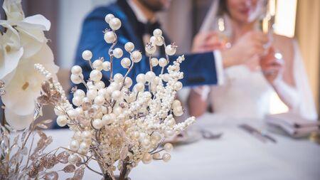 Wedding day, floral decor, luxury accessories concept - Bridal bouquet, event decoration Stok Fotoğraf