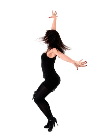 dancer isolated on white photo