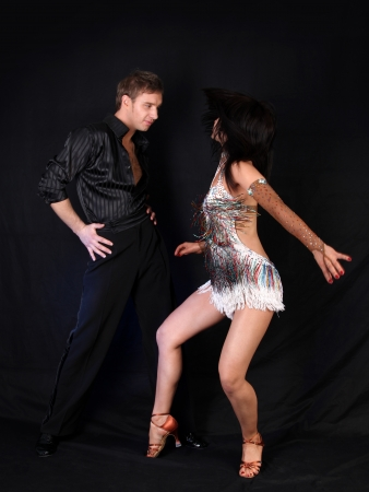 dancesr against black background Stock Photo - 15718817