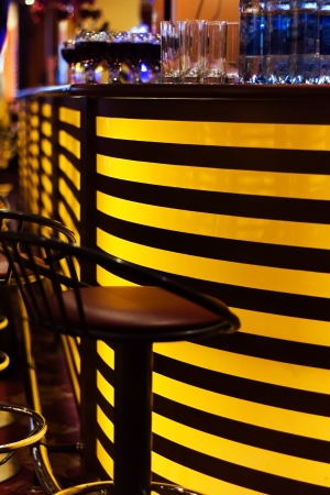 A stylish night bar with contemporary decor Stock Photo