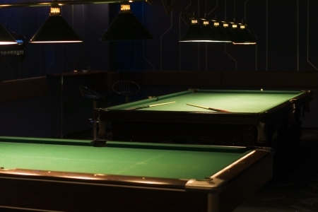 snooker rooms: billiards room Stock Photo