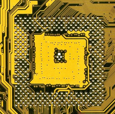 internals: computer board, high resolution image