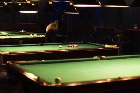 billiards room: billiards room Stock Photo