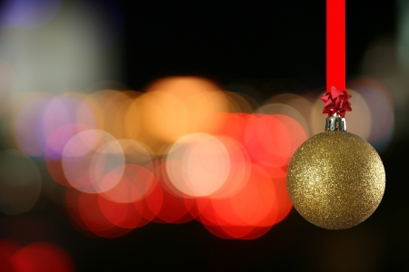 christmas ball against bluring light Stock Photo - 15714026