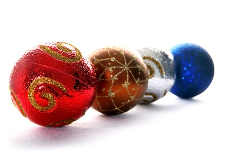 isolataion: christmas balls isolated on white Stock Photo