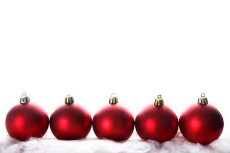 isolataion: red christmas isolated on white