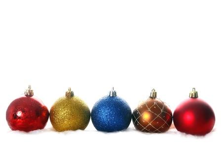 isolataion: christmas balls isolated on white Stock Photo