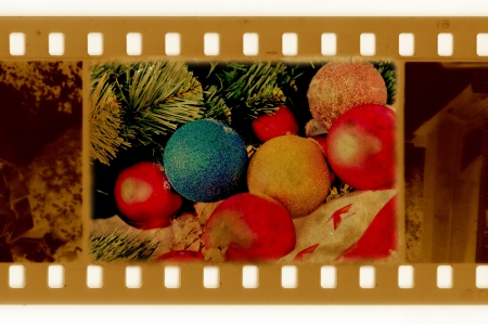 oldies: oldies frame photo with pine, ball and santa hat