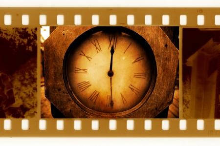 oldies: oldies 35mm frame photo with vintage clock
