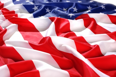 flapping flag USA with wave Stock Photo - 15713965