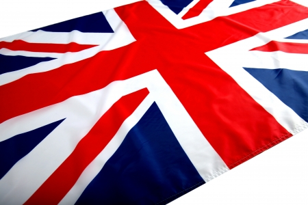 flapping flag UK with wave photo