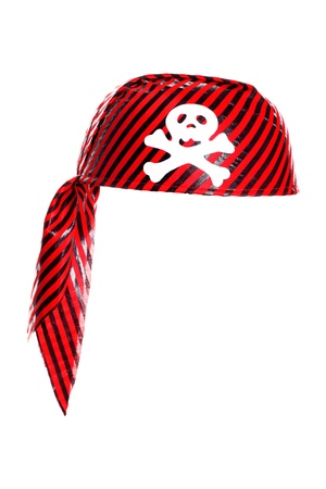 pirate hat: Piracy hat with skull isolated on white