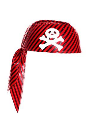 Piracy Hut mit Schädel isoliert auf weiß