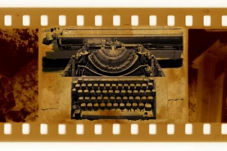 oldies: oldies 35mm frame photo with vintage typewriter