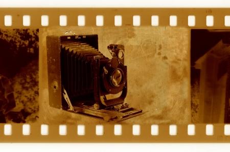 oldies: oldies 35mm with retro photo camera Stock Photo