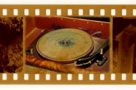 oldies: oldies 35mm frame photo with vintage gramophone