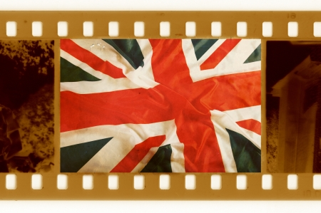 vintage 35mm with old USA flag photo
