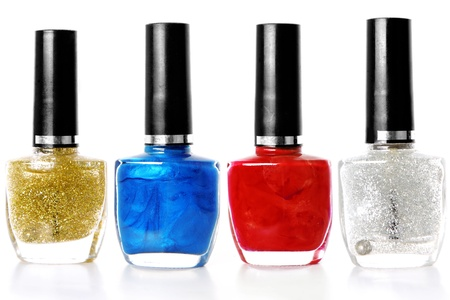mix of colors nail polish photo