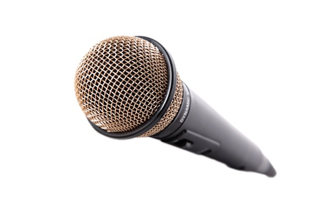 mic isolated on white