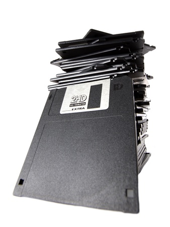 stack of floppy disks Stock Photo - 15724476
