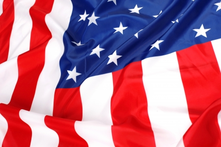 flapping flag USA with wave Stock Photo - 15752308