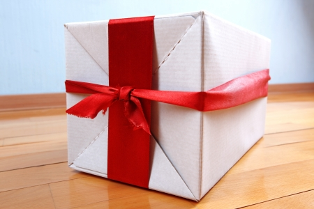 happy delivery - gift in your house for holidays Stock Photo - 15745384