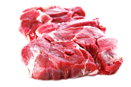 fresh beef isolated on white photo