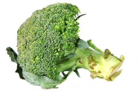 green broccoli isolated on white photo
