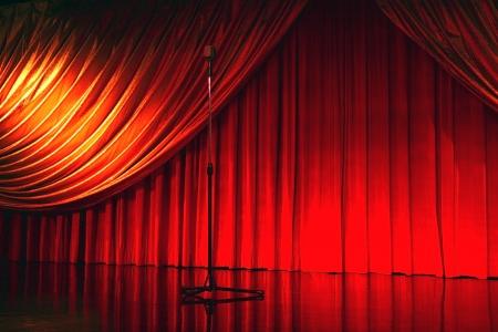 archiitecture: retro elegant theater with microphone Stock Photo