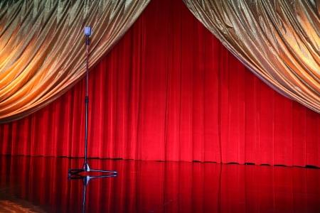 classical retro elegant theater with mic photo
