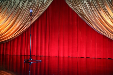 archiitecture: classical retro elegant theater with mic