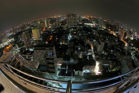 Bangkok in night, Thailand photo