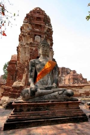 buddah: Monuments of buddah, ruins of Ayutthaya, old capital of THAILAND