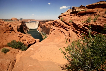 Colorado river in Glen Canyon and Dam before Lake Powell , Arizona, USA photo