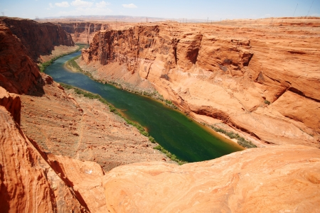 Classic nature of America -  Colorado river close to Glen canyon dam Stock Photo