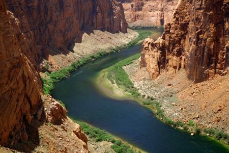 close range: Classic nature of America -  Colorado river close to Glen canyon dam Stock Photo