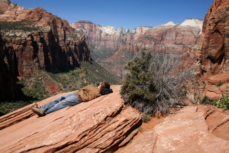man in Zion National Park, UTAH, USA Stock Photo - 15768994