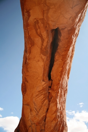 Erosion in North Arch, Arches National Park in Utah, USA photo