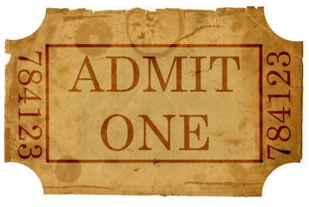 ticket admit one Stock Photo - 15768768