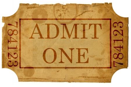 ticket admit one Stock Photo - 15768768