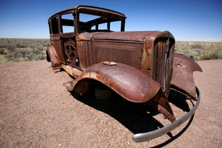 old rusty american Ford photo