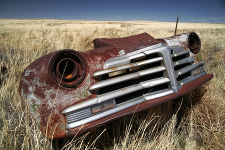 Antique american car outdoors photo