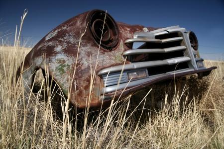 Antique car outdoors photo