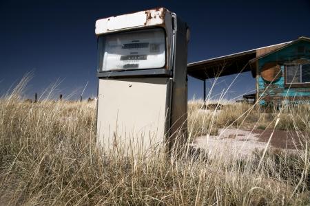 vintage USA gas station Stock Photo - 15768889