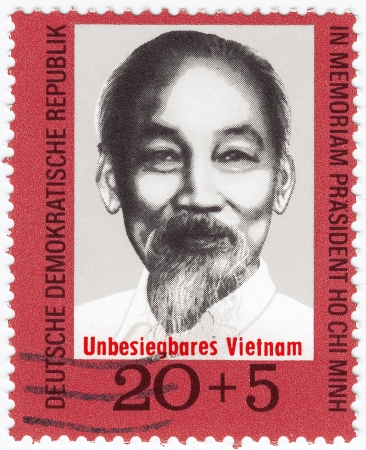 politican: GERMANY - CIRCA 1983 : stamp printed in Germany showing Ho Chi Mint, circa 1983